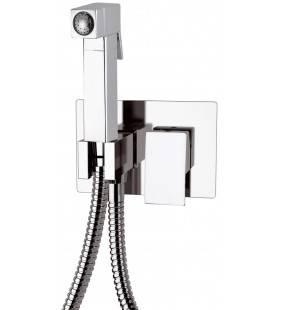 Miscelatore incasso quadro per shut-off con doccetta, supporto doccia e flessibile doccia Remer Z60