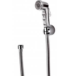 Set doccetta bidet con doccia a pulsante cromata, flessibile e supporto Remer 332332ORCR