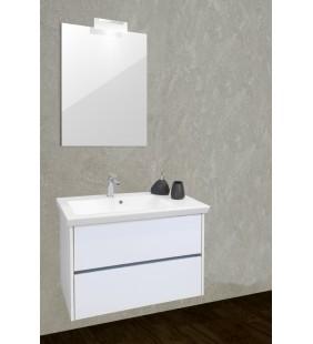 PICASSO - Mobile bagno con lavabo e specchio con faretto.