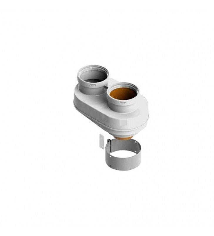 Sdoppiatore universale d60-100 mm in acciaio zincato per vaillant Idrobric SFUCAL0137SD