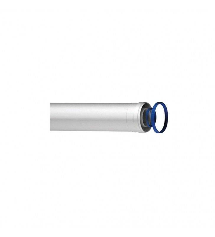 Prolunga coassiale universale maschio-femmina di d 60/100 mm in alluminio e acciaio Idrobric SCACAL018XXPR