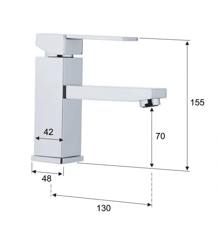 Remer rubinetto miscelatore per lavabo senza scarico serie qubika Remer Q11