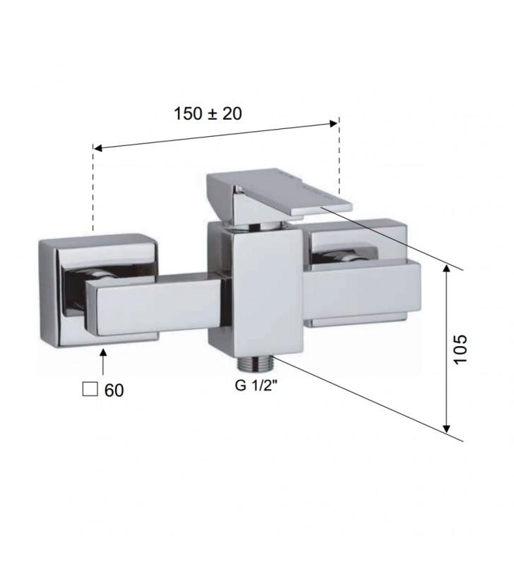Rubinetto esterno per doccia - serie qubika Remer Q31