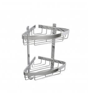 Mensola doccia angolare attractive doppia con appendini Idrobric A111002AN