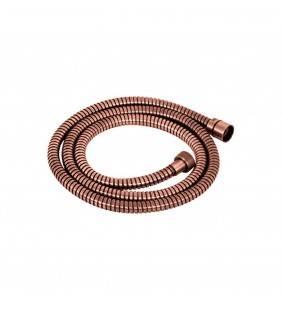 Flessibile doccia 150 cm vecchio rame in acciaio doppia graffatura Idrobric H0249150