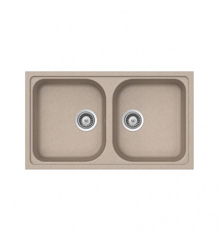 Lavello avena 2 vasche Idrobric SCACER0533LA
