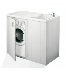 Nascondi lavatrice in resina con lavatoio da 109x60 in kit Negrari 6008SPPLK