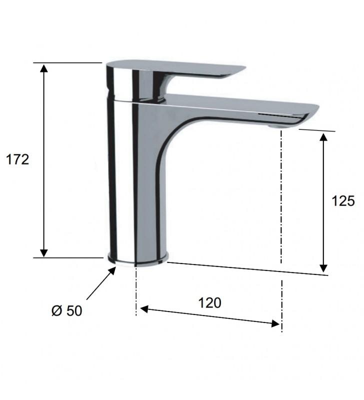 Miscelatore lavabo desgin serie infinity senza scarico Remer I11