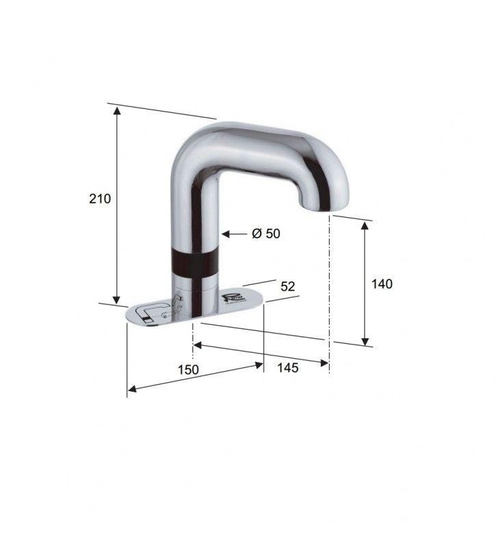 Sensor - rubinetto elettronico con basetta Remer SE15B