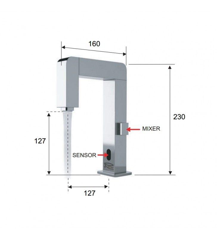 Miscelatore elettronico a sensore a regolazione - sensor Remer SE18
