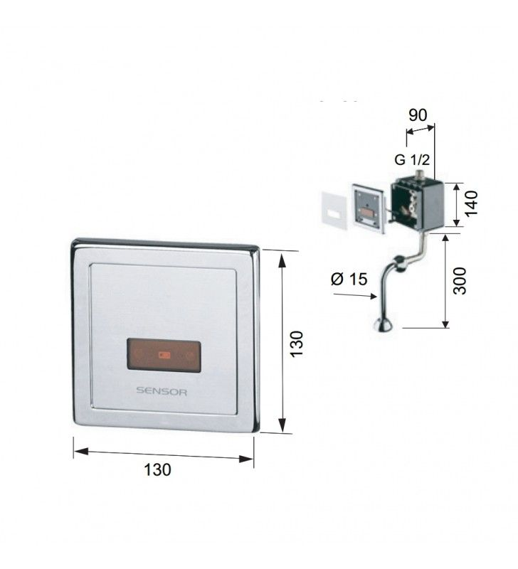 Sensor - rubinetto elettronico per orinatoio Remer SE30