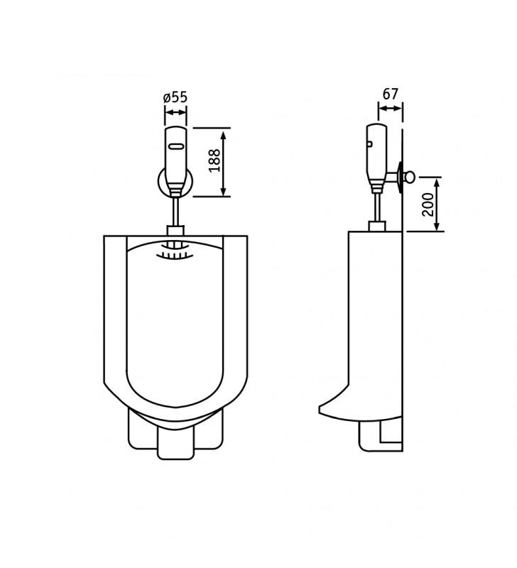 Sensor - rubinetto elettronico esterno per orinatoio Remer SE33