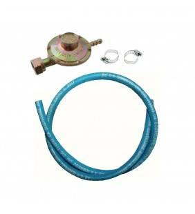 Kit tubo gas d 8x13, lunghezza tubo 150 cm imq con regolatore di flusso e fascette (MM1) Idrobric SACTUB0001GA