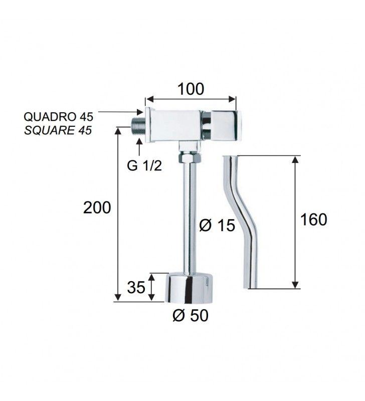 Rubinetto per orinatoio temporizzato a pulsante - serie tempor Remer TE856
