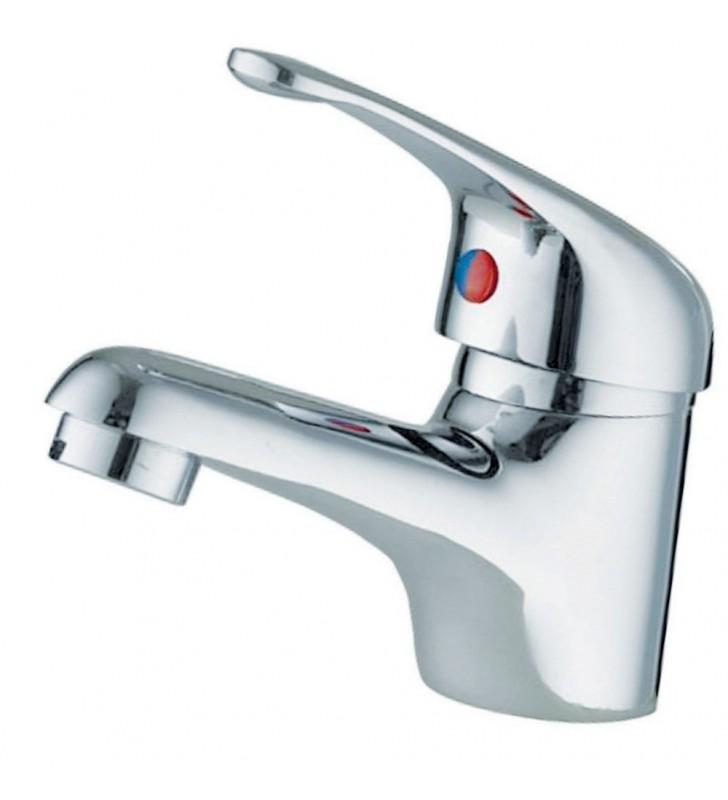 Miscelatore economico per lavabo in ottone cromato line blu (MM2) Idrobric SCARUB0125CR