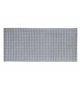 Tappeto a scacchi grigio chiaro e scuro 50x110 Juteco SCAGRI50X110