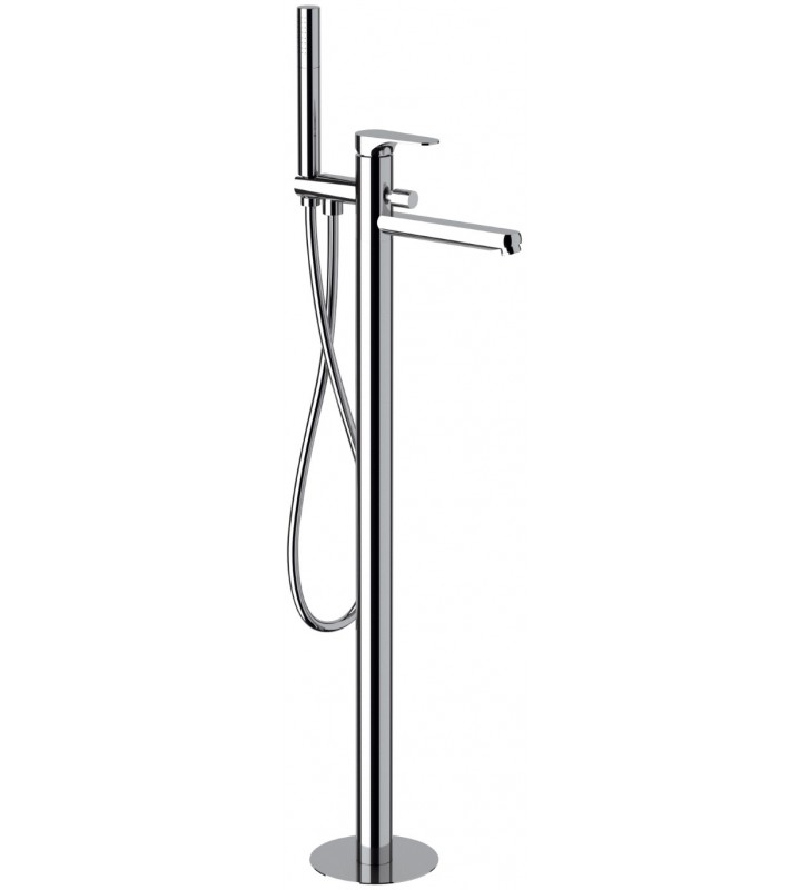 Miscelatore bordo vasca da pavimento e kit doccia serie - Rubinetto vasca da bagno prezzi ...