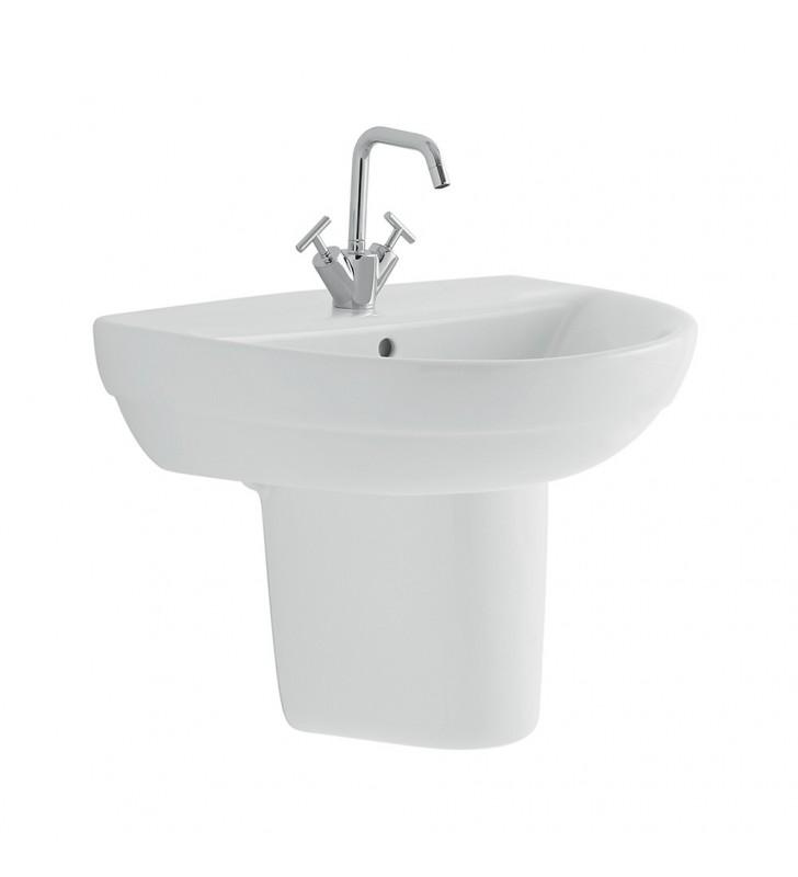 Lavabo con semicolonna serie selnova 3, pozzi ginori Pozzi Ginori SFUCER0279SS-SFUCER0274LA