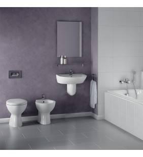 Set sanitari a terra serie quarzo/palio con lavabo 60cm con semicolonna Ceramica dolomite Setquarzo/palio