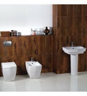 Set sanitari di design a terra serie con lavabo a colonna diamante Rak Ceramics setdiamante