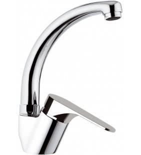 Rubinetto per lavello con bocca altagirevole, modello corto tipo lusso - serie class line Remer L42C