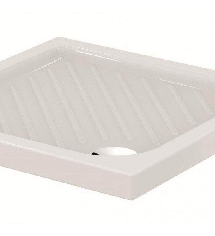 Piatto doccia 100x80 antiscivolo in ceramica - serie gemma 2 Ceramica dolomite SFUCER0350PD