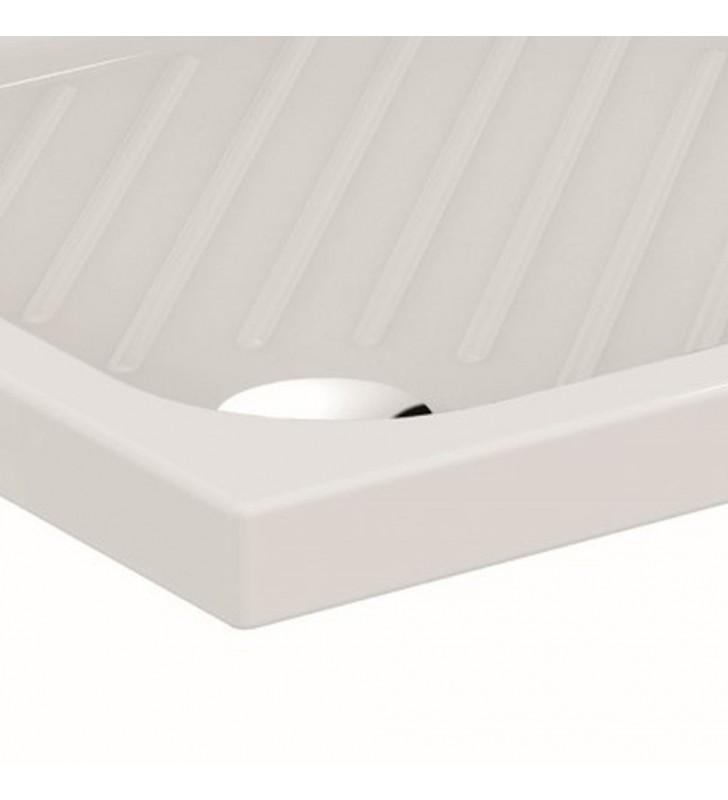 Piatto doccia 120x80 rettangolare antiscivolo - serie gemma 2 Ceramica dolomite SFUCER0351PD