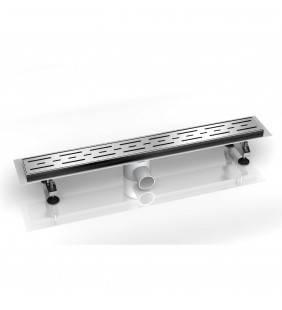 Canalina di scarico 110x9 con griglia removibile in acciaio inox line Idroclic ICCFD0711C