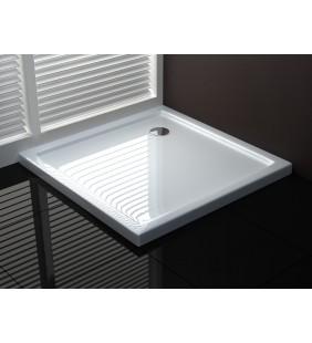 Piatto doccia 76x76 h4 cm ultraflat in puro acrilico extra rinforzato