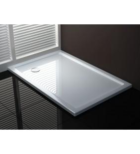 Piatto doccia 70x100 h4 cm ultraflat in puro acrilico extra rinforzato