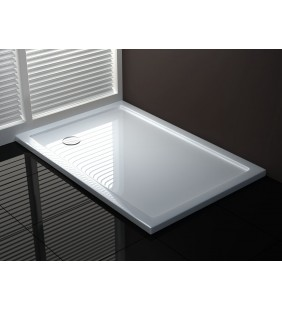 Piatto doccia 80x100 h4 cm ultraflat in puro acrilico extra rinforzato