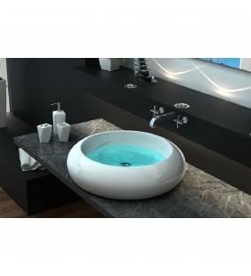 Lavabo moderno da appoggio, design tondo