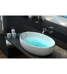 Lavabo da appoggio in ceramica di qualitã design moderno Idroclic ICE5637