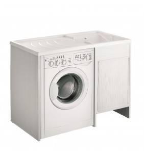 Coprilavatrice in resina con lavatoio da 109x60 in kit Idroclic IC4008K