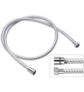 Flessibile biflex per doccia in pvc atossico, cromo-bianco 200 cm  332CN200
