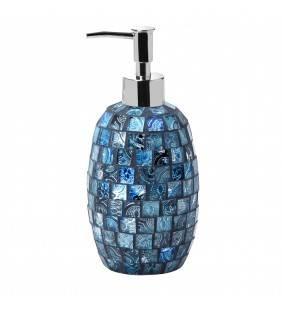 Dispenser serie crystal in vetro mosaico blu Aquasanit QF9120BL