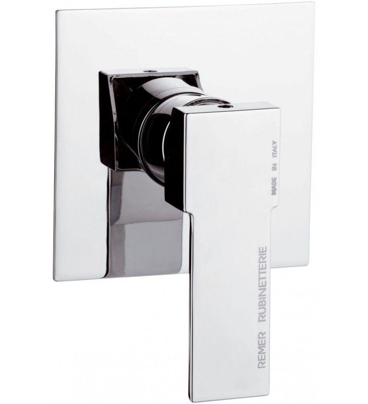 Rubinetto da incasso per vasca/doccia quadro - serie qubika