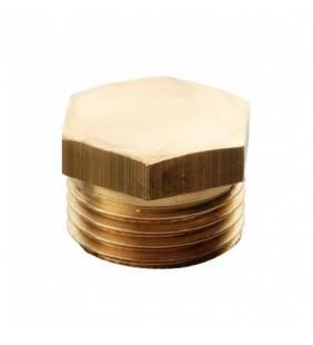 Tappo esagonale ottone giallo 3/8 RR 523OG38