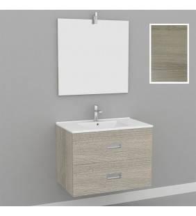 Mobile bagno 75 cm sospeso 2 cassetti legno rovere - renoir Aquasanit MRE0001RO
