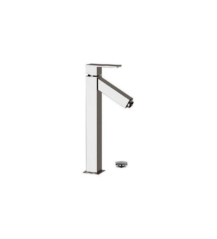 Miscelatore lavabo alto con luce led e scarico click clack - serie oxy light Daniel Rubinetterie OXL607CR