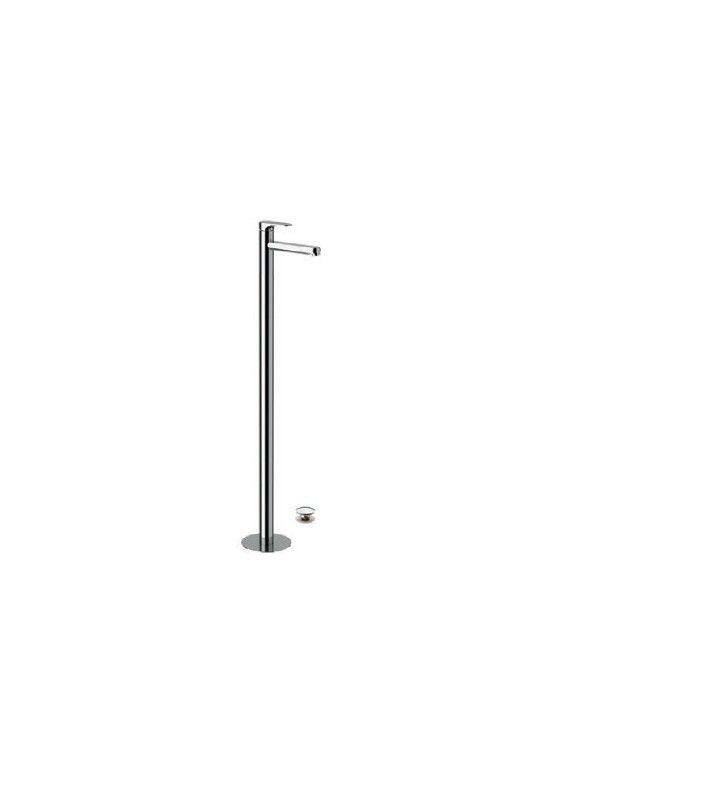 Miscelatore lavabo da terra cm 95 con risparmio energetico e idrico class line eco Remer LE18LT8
