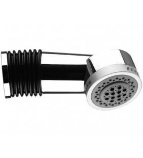 Braccio doccia con soffione integrato a disco moderno small