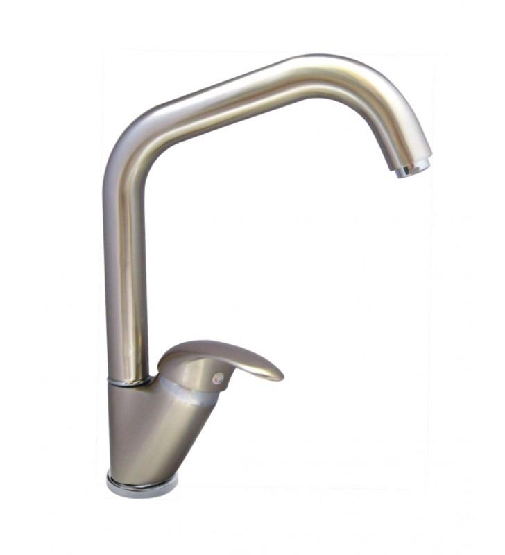 Miscelatore lavello bocca alta serie trendy finitura acciaio spazzolato (MM1) Idrobric SCARUB0190AC
