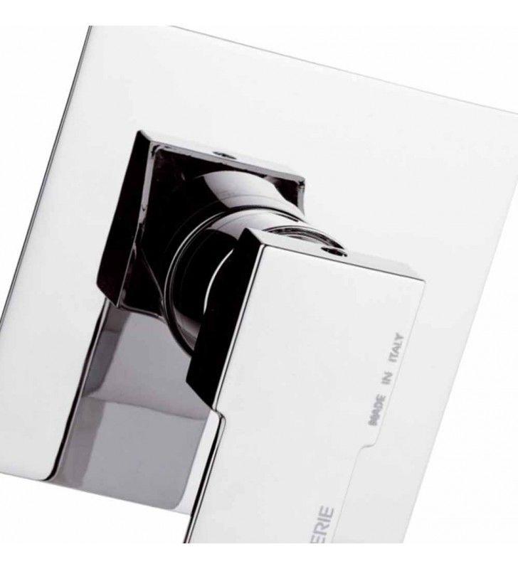 Rubinetto da incasso per vasca/doccia quadro - serie qubika (MM1) Remer Q30