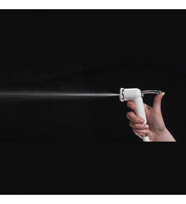 Idroscopino e shut off ariel bianco due prodotti in uno con gancio e flessibile Idrobric BLIDUP0067BC