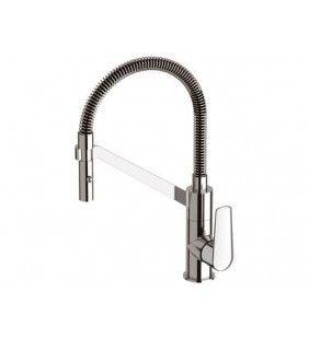Miscelatore per lavello cucina di design con doccetta estraibile, serie Vanity Remer V533