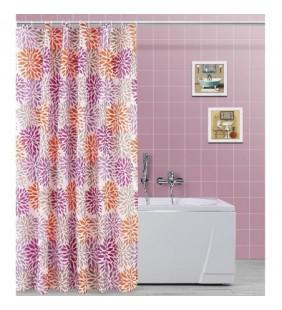 Tenda per doccia con motivo a fiori 200x120 in poliestere Feridras 187046