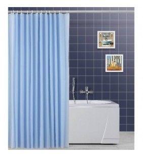 Tenda per doccia 120x200 in etilene azzurra Feridras 187087