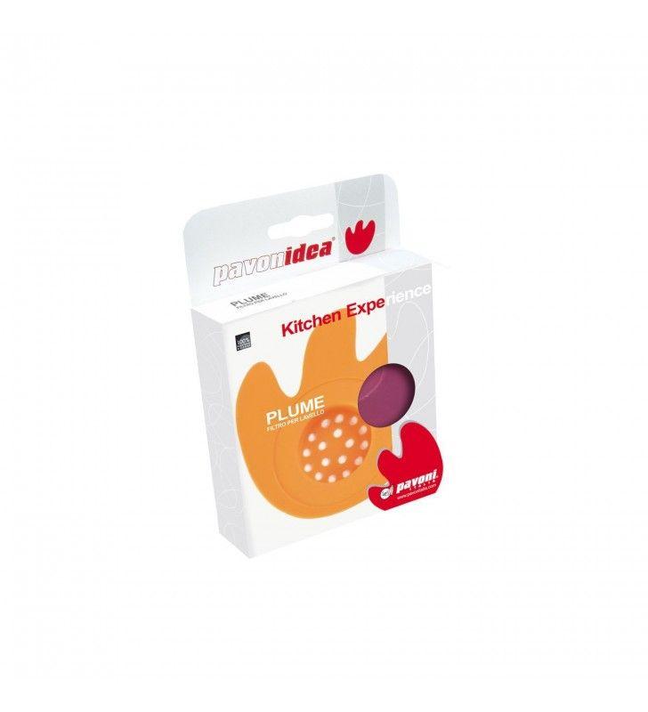 Filtro per lavelli in silicone arancio - plume Pavonidea PLUMEAR