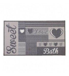 Tappeto color grigio 50x80 cm serie sweet Feridras 104007